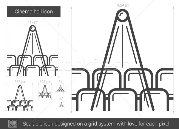 Cinema hall line icon. Stock photo © RAStudio