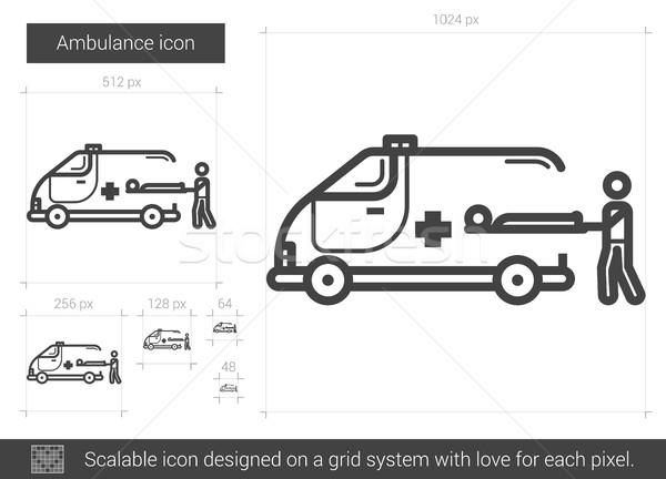 Ambulance lijn icon vector geïsoleerd witte Stockfoto © RAStudio
