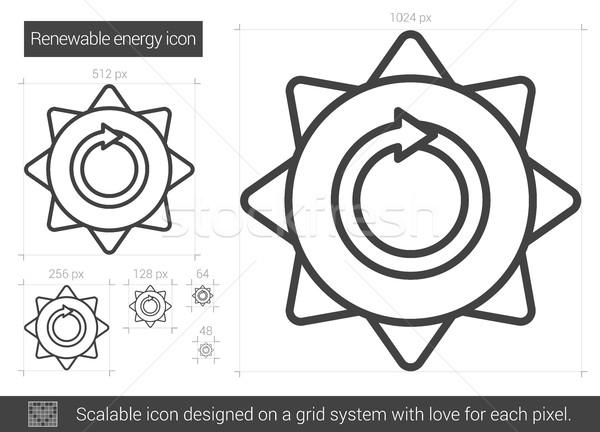 Energii ze źródeł odnawialnych line ikona wektora odizolowany biały Zdjęcia stock © RAStudio