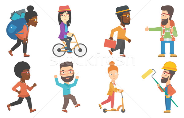 Vector set of tourists and business characters. Stock photo © RAStudio
