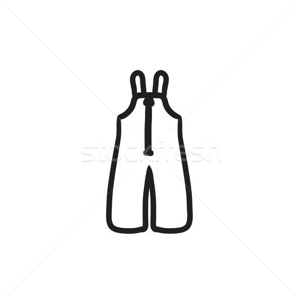 Baby winter overalls sketch icon. Stock photo © RAStudio