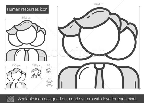 Human resources line icon. Stock photo © RAStudio