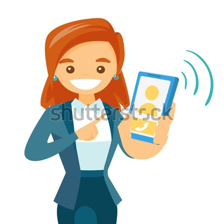 Student using tablet computer vector illustration. Stock photo © RAStudio