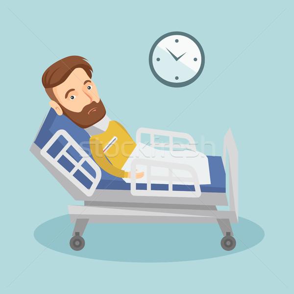 Chorych człowiek temperatura gorączka Zdjęcia stock © RAStudio