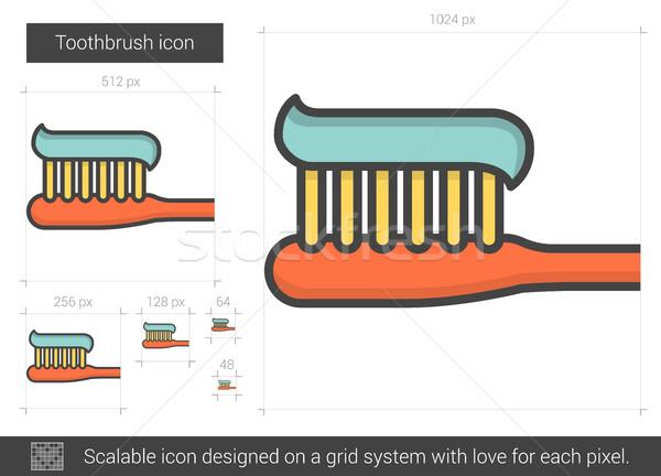 Toothbrush line icon. Stock photo © RAStudio