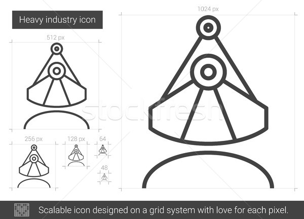 Heavy industry line icon. Stock photo © RAStudio