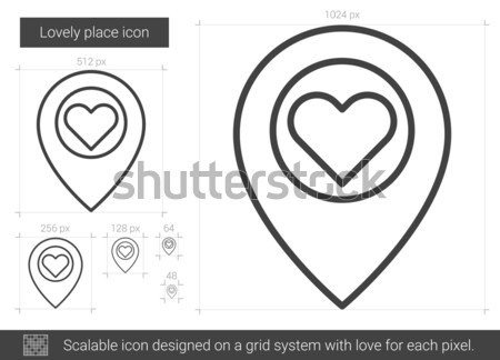 Stock photo: Lovely place line icon.