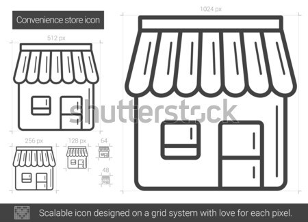 Gemak store lijn icon vector geïsoleerd Stockfoto © RAStudio