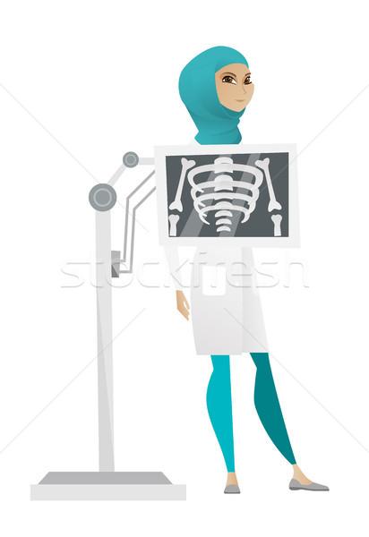Muszlim röntgen eljárás fiatal orvos mellkas Stock fotó © RAStudio