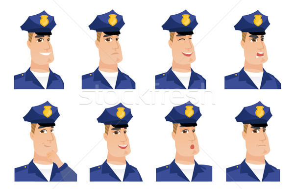 Vector set of policeman characters. Stock photo © RAStudio
