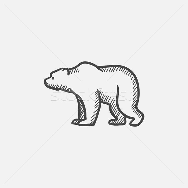 Medve rajz ikon háló mobil infografika Stock fotó © RAStudio