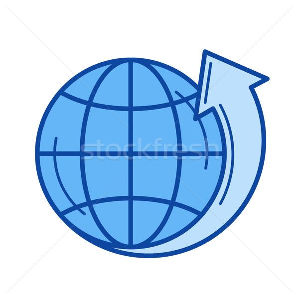 Környezeti védelem vonal ikon vektor izolált Stock fotó © RAStudio