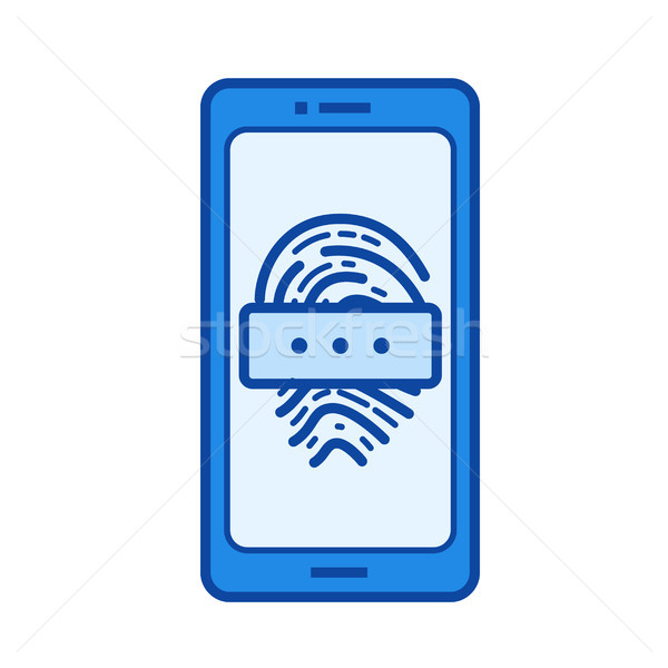 Fingerprint password line icon. Stock photo © RAStudio