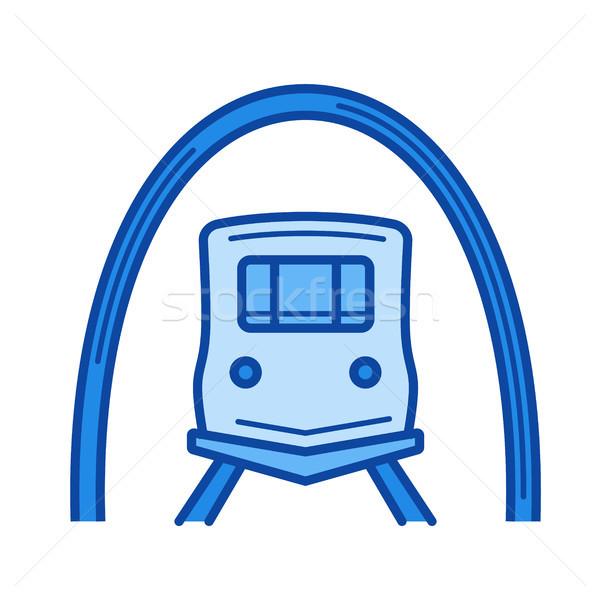 Chemin de fer tunnel ligne icône vecteur isolé Photo stock © RAStudio