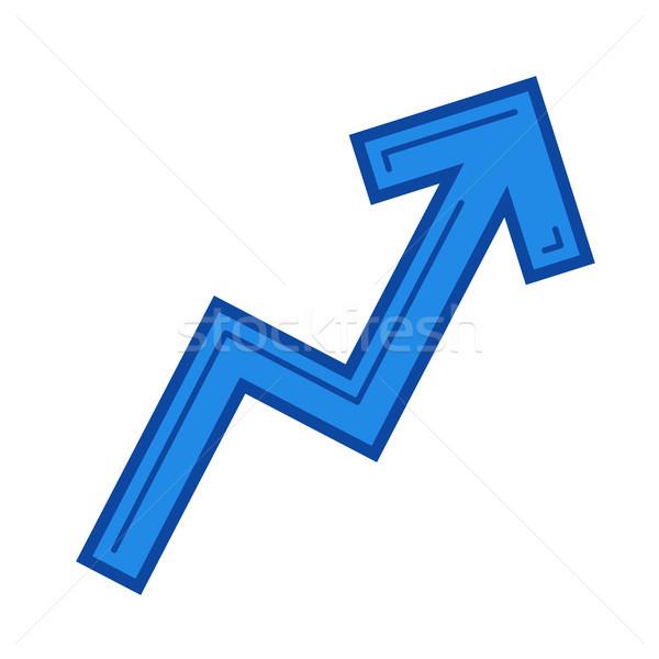 Success growth chart line icon. Stock photo © RAStudio