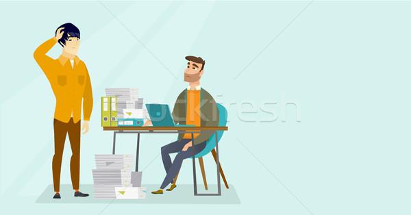 オフィスワーカー 書類 不幸 白人 白 アジア ストックフォト © RAStudio