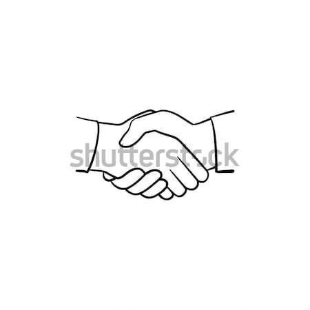 Handshake hand drawn sketch icon. Stock photo © RAStudio