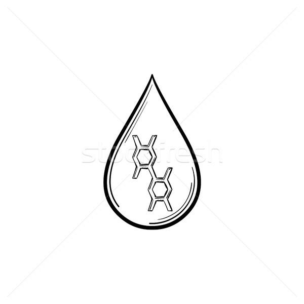 Smeermiddel drop schets icon schets Stockfoto © RAStudio