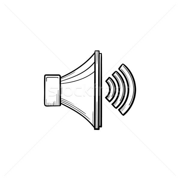 Volume contrôle dessinés à la main doodle icône Photo stock © RAStudio