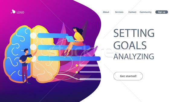 Setting goals and analysing landing page. Stock photo © RAStudio