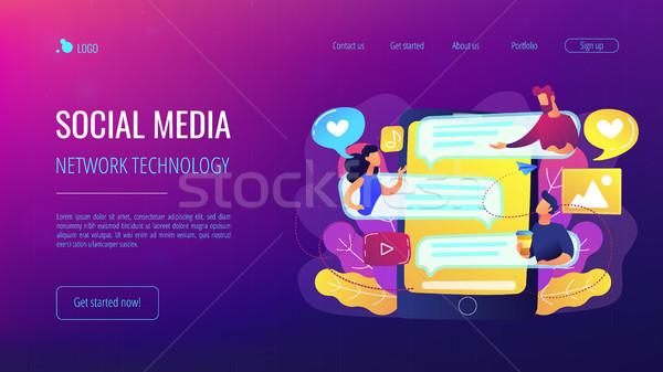 Internet forum concept vector illustration. Stock photo © RAStudio