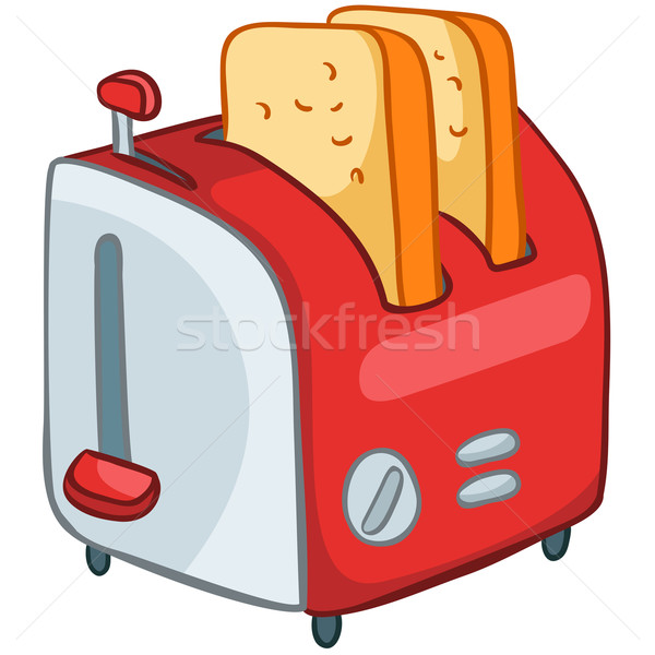 Cartoon Home Kitchen Toaster Stock photo © RAStudio
