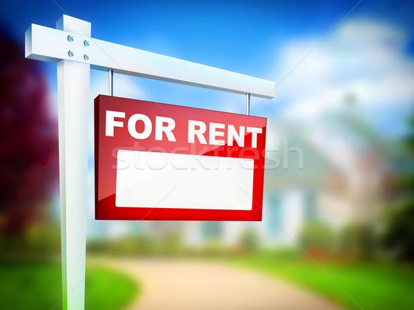 家賃 にログイン 不動産 コンピュータ デザイン ストックフォト © RAStudio
