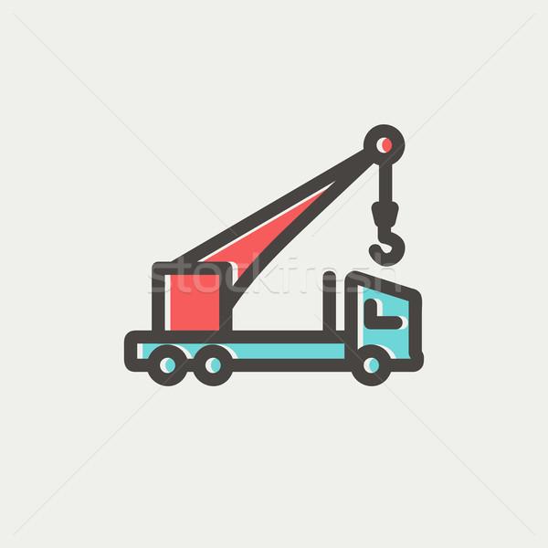 Tow truck thin line icon Stock photo © RAStudio