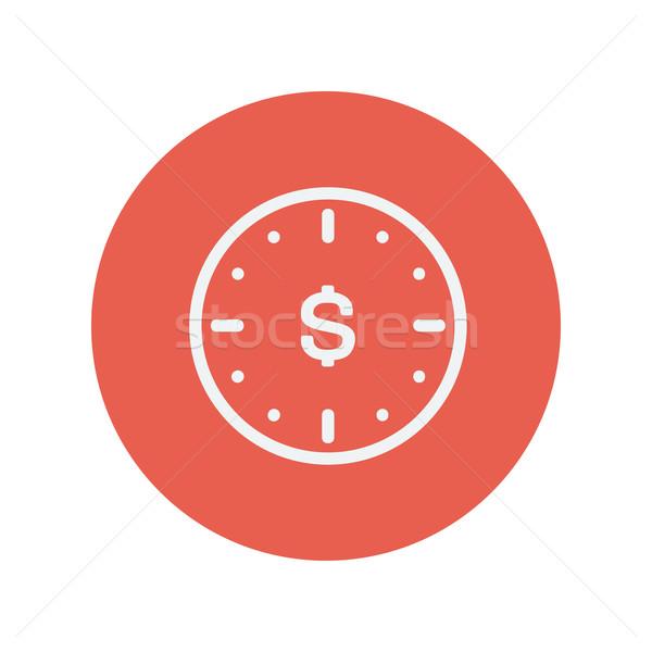 Business flat thin line icon Stock photo © RAStudio