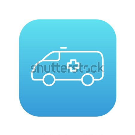 Ambulance car thin line icon Stock photo © RAStudio