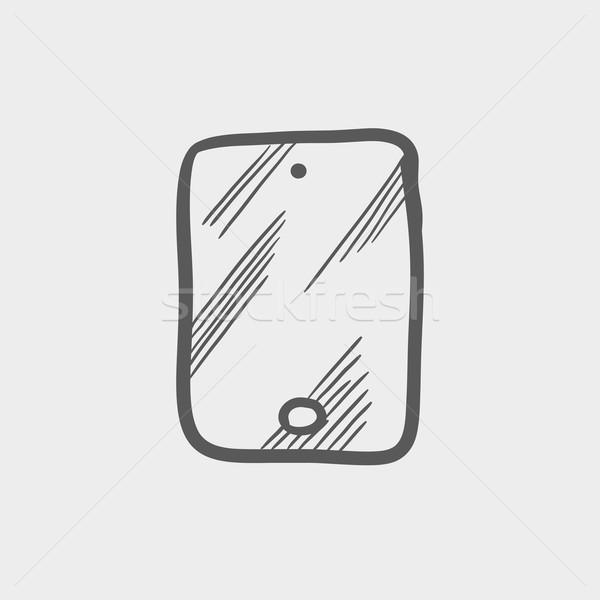 Smartphone sketch icon Stock photo © RAStudio