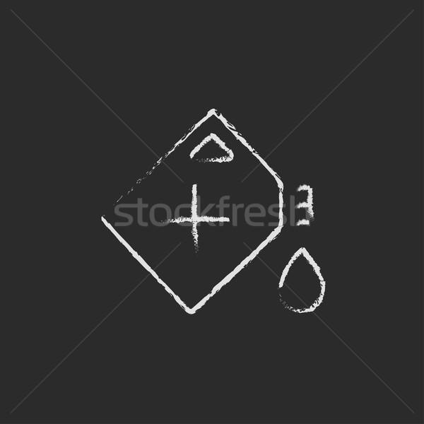 Gas container icon drawn in chalk. Stock photo © RAStudio
