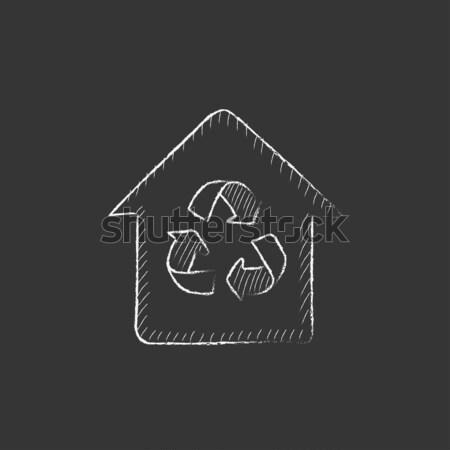 Handshake erfolgreich Immobilien Transaktion Symbol gezeichnet Stock foto © RAStudio