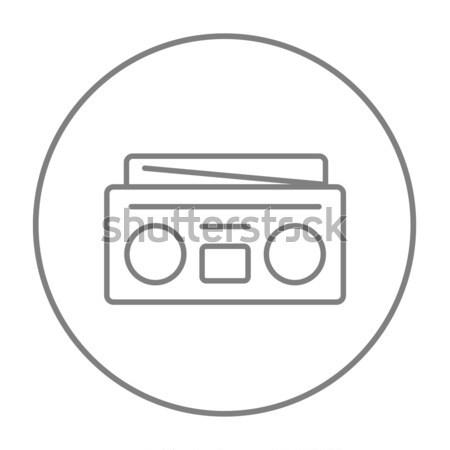 Radio kaseta gracz line ikona internetowych Zdjęcia stock © RAStudio