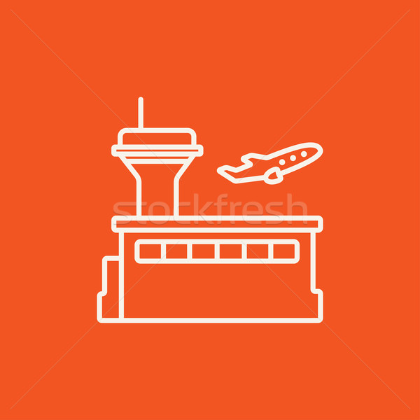 Plane taking off line icon. Stock photo © RAStudio