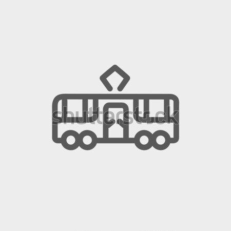 Tram line icon. Stock photo © RAStudio