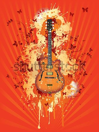 саксофон аннотация Swirl ретро музыку концерта Сток-фото © RAStudio