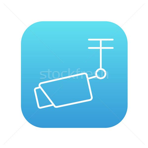 Открытый наблюдение камеры линия икона веб Сток-фото © RAStudio
