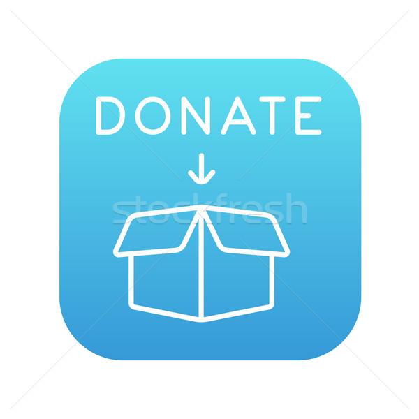 Donación cuadro línea icono abierto web Foto stock © RAStudio