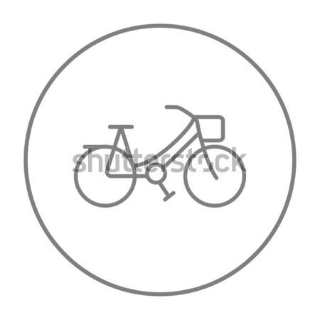 Stock photo: Bicycle line icon.