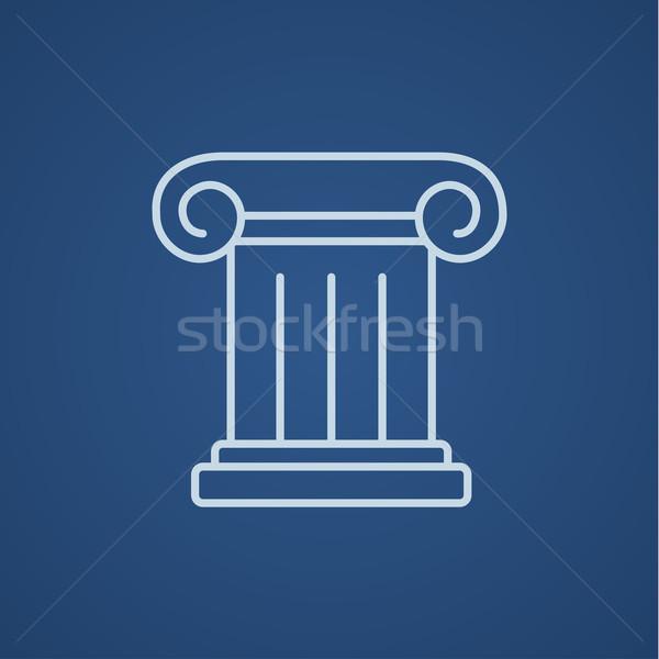 Ancient column line icon. Stock photo © RAStudio
