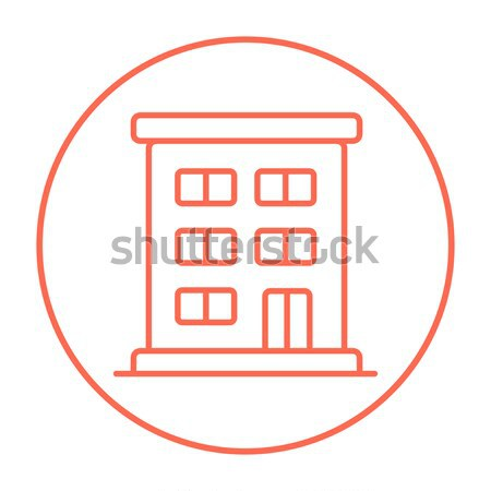 Stock photo: Residential building line icon.