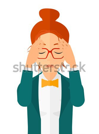 Woman with injured head. Stock photo © RAStudio