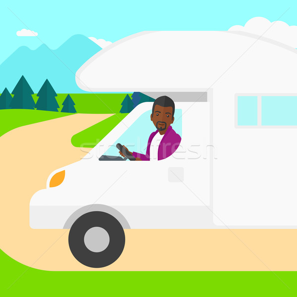 человека вождения Motor домой лес вектора Сток-фото © RAStudio