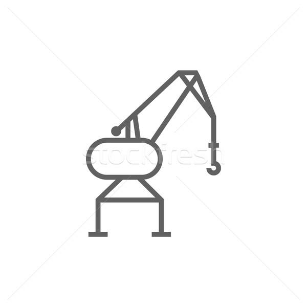 Harbor crane line icon. Stock photo © RAStudio