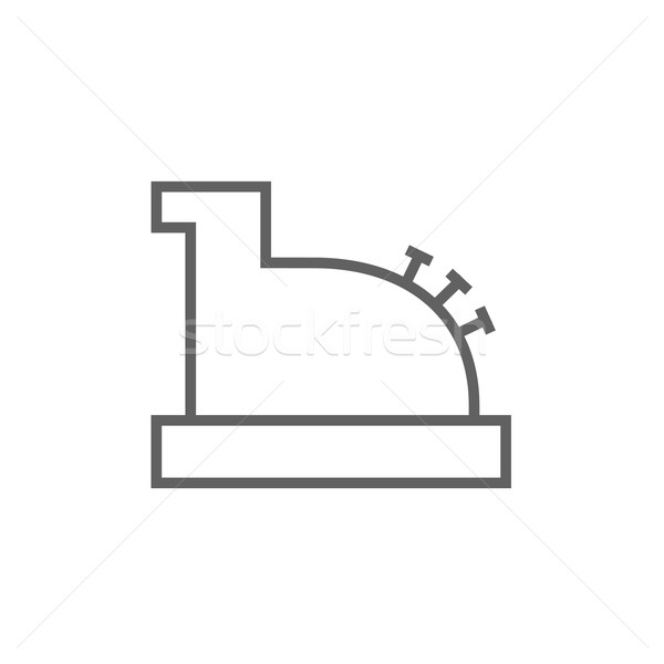 Stock photo: Cash register machine line icon.