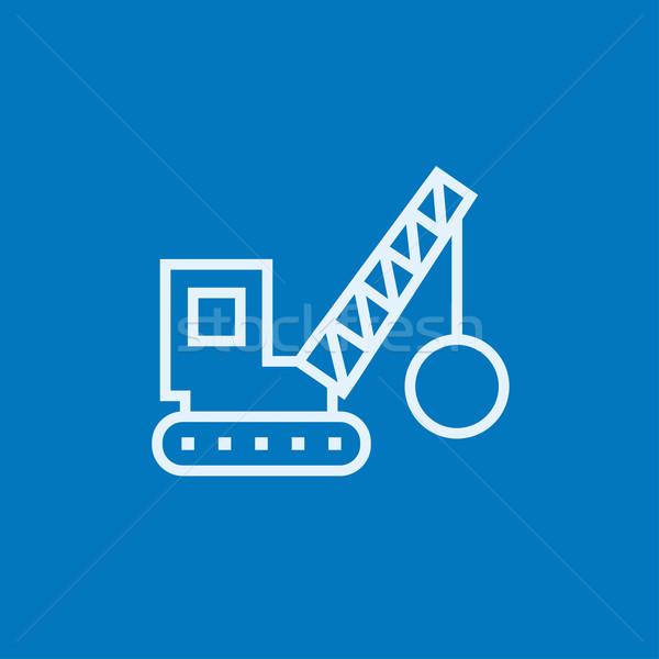 Rombolás állvány vonal ikon sarkok háló Stock fotó © RAStudio
