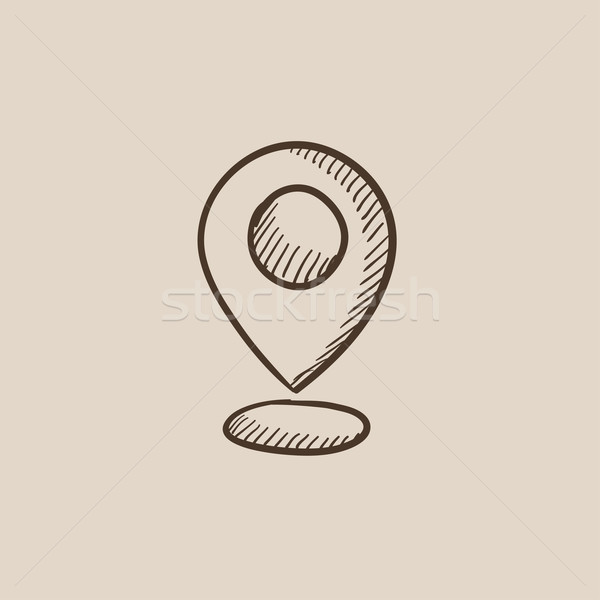 Navigator guide itinerary sketch icon. Stock photo © RAStudio