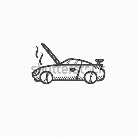 Auto rotta open sketch icona web mobile Foto d'archivio © RAStudio