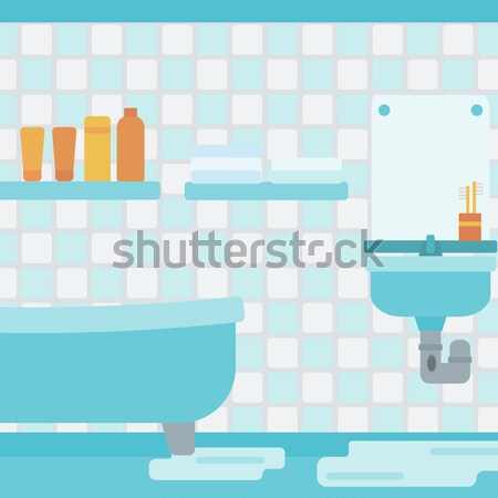 Background of leaking sink in the bathroom. Stock photo © RAStudio